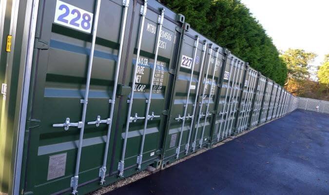 Secure container storage in Andover, Hampshire